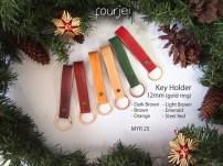 Leather Key Holder 18mm (gold ring), MYR 25 each