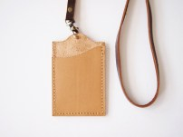 ID Holder with Lanyard - Sandy Brown (back)