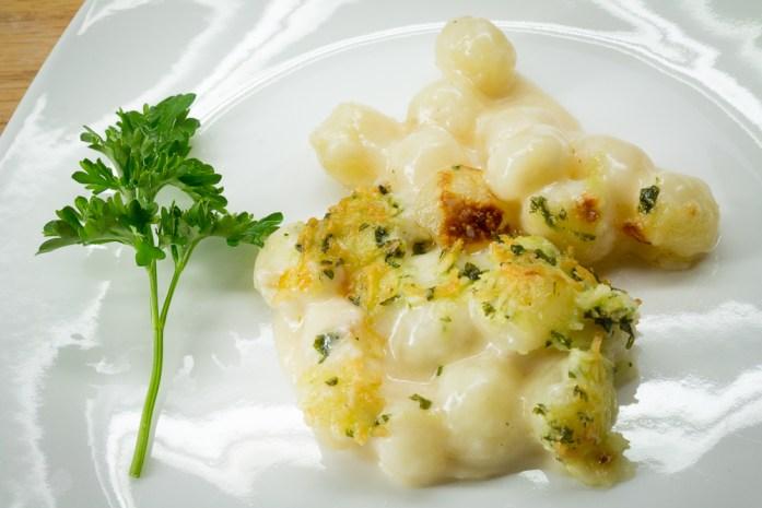 morel gnocchi mac and cheese