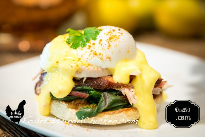 smoked pulled pork eggs benedict