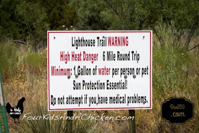 lighthouse trail sign