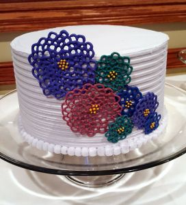 Lace Flower Cake