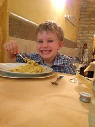 happiness is spaghetti carbonara