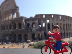 just out for a bike ride in Rome