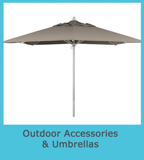Outdoor accessory cover and umbrellas