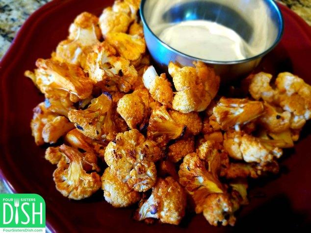 Spicy Roasted Cauliflower – Two Ways (Spiced & Buffalo Style)