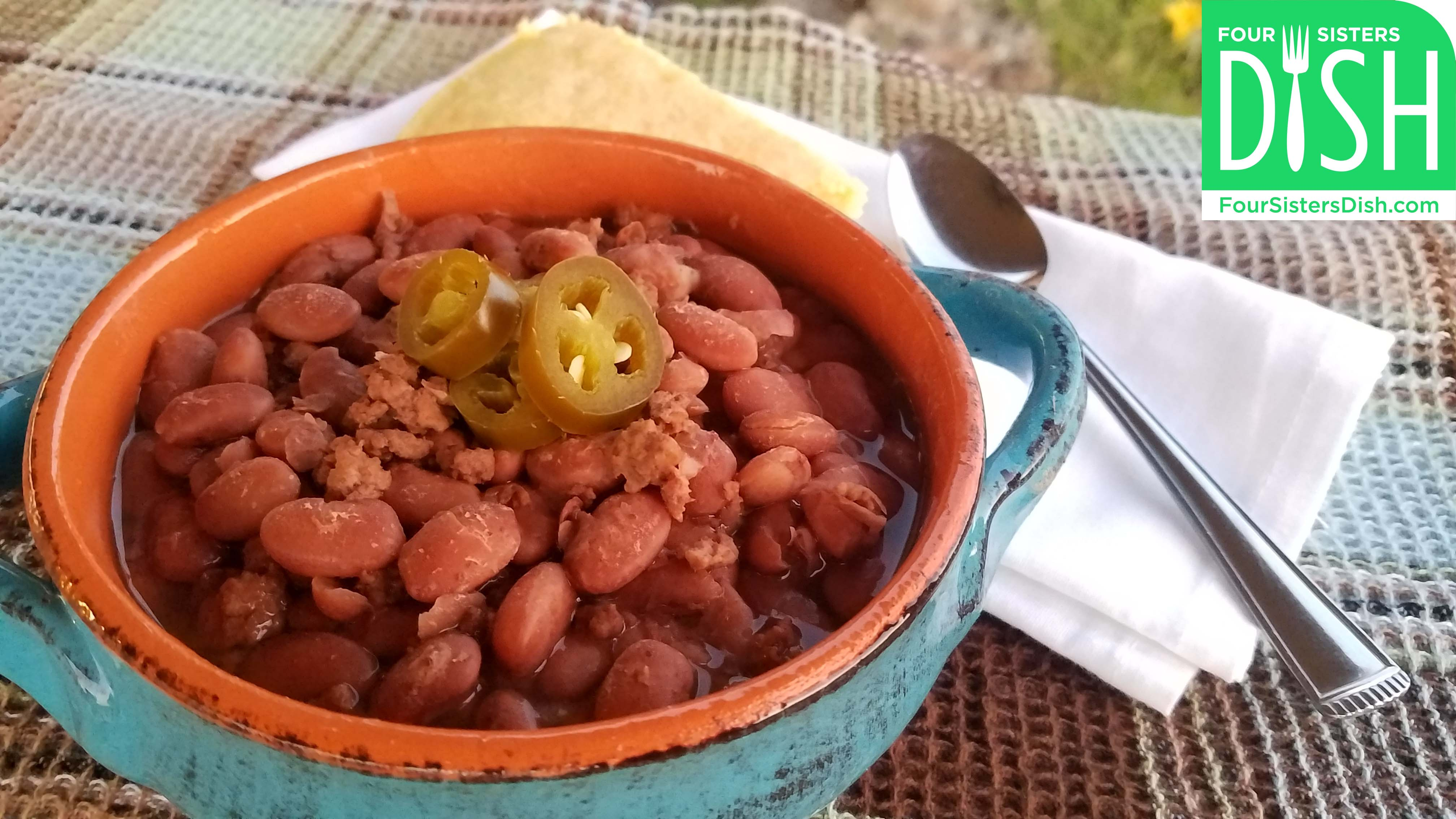 Slow Cooker Beefy Pinto Beans
