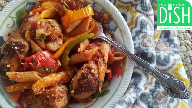 Italian Turkey Sausage & Pepper Pasta