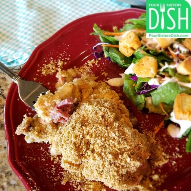 Chicken Cordon Bleu Casserole from Four Sisters Dish
