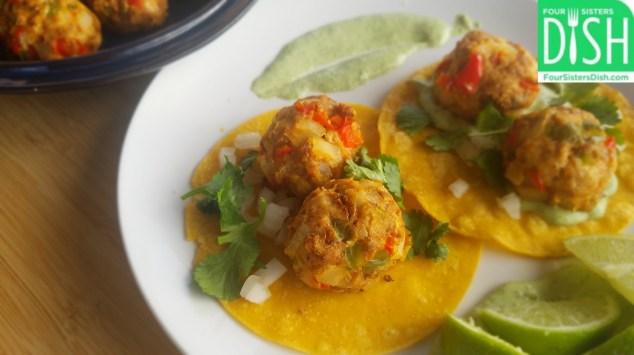 Chicken Fajita Meatballs
