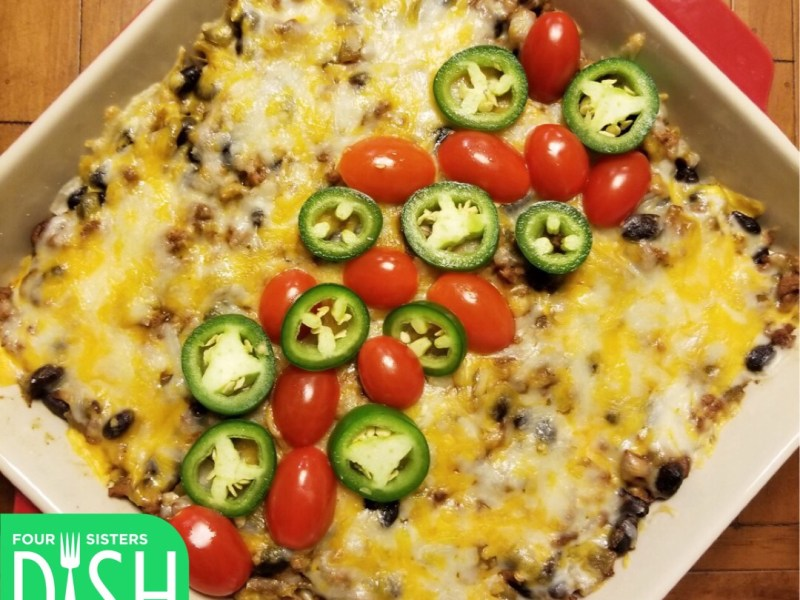 Black Bean & Beef Green Chile Bake