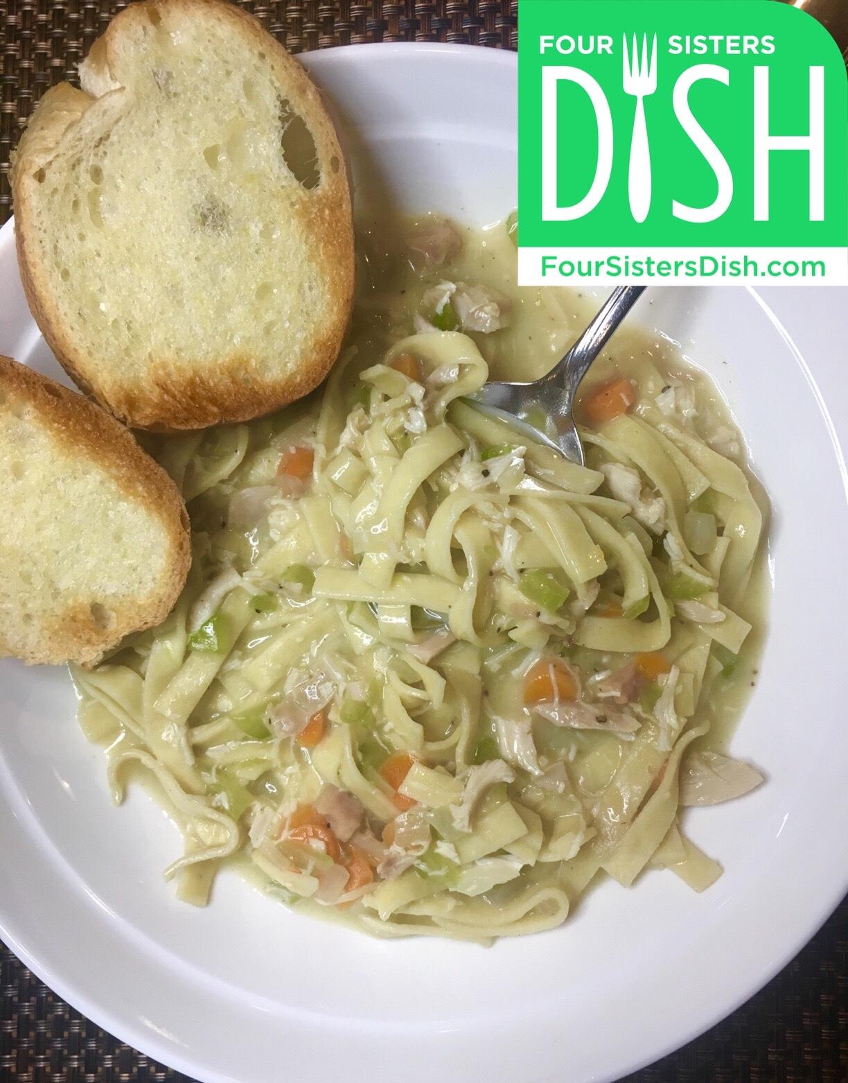 Lower Carb Chicken Noodle Soup
