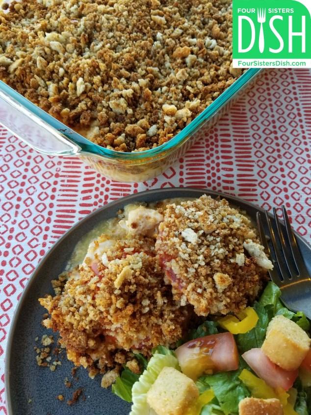 Chicken and Tomato Crumble Casserole