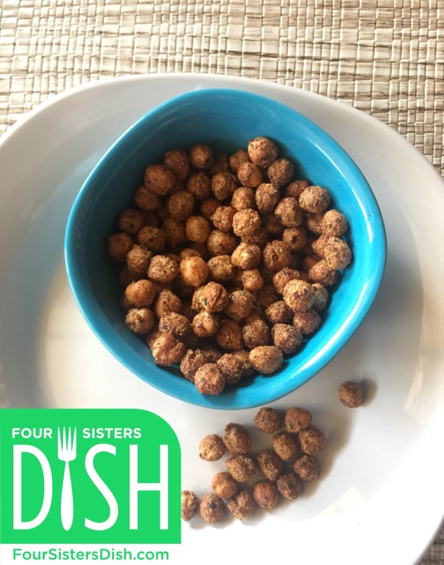 Spicy Air Fried Chickpeas