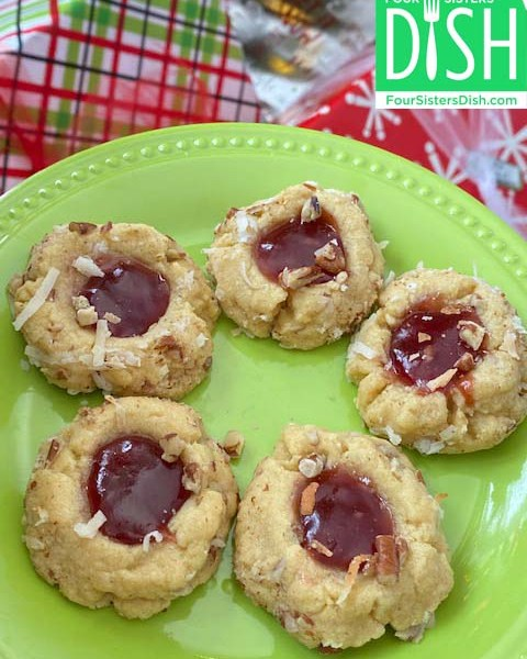 Classic Holiday Thumbprint Cookies