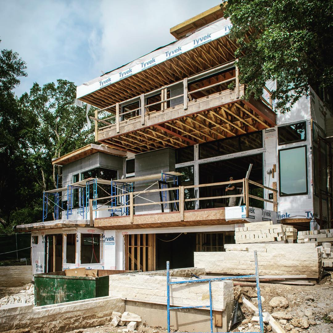 being built by Foursquare Builders under the guidance of Sr. Project Manager Robert Farkas. It's a simple 4 story residence for a great family.