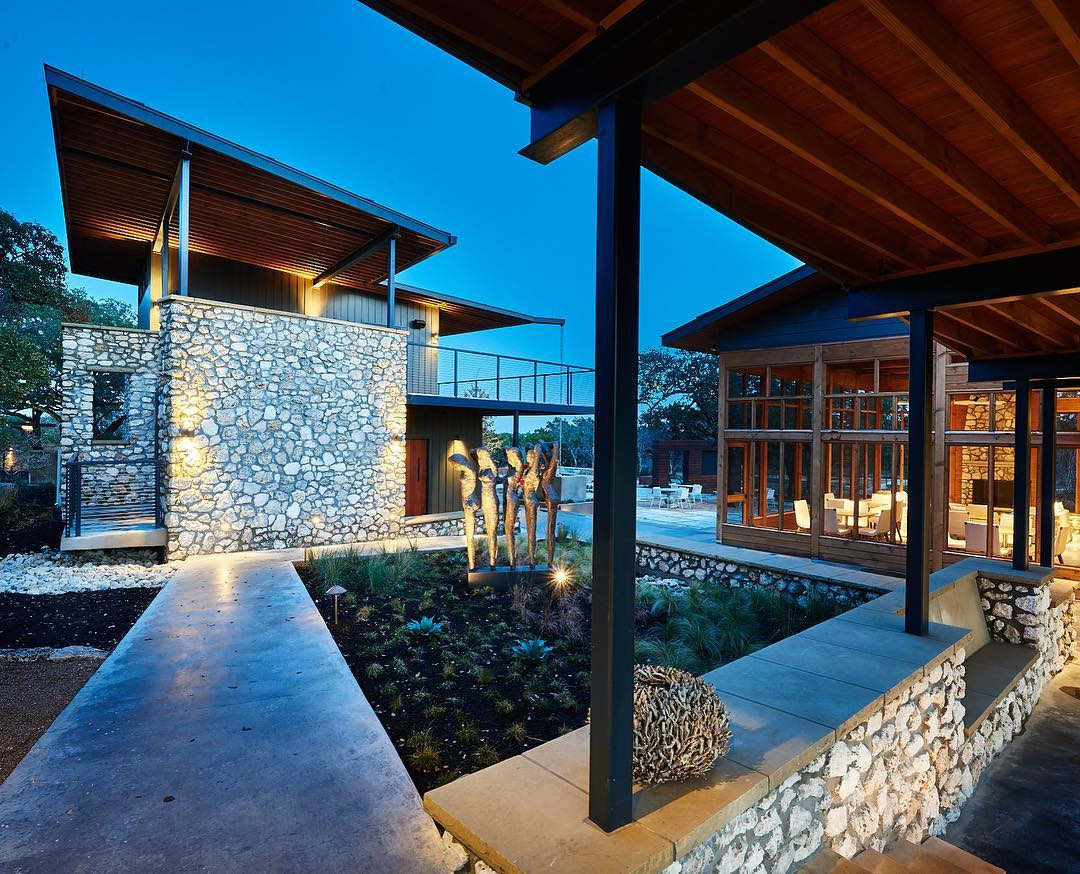 Texas Hill Country Commercial development built by @foursquarebuilders