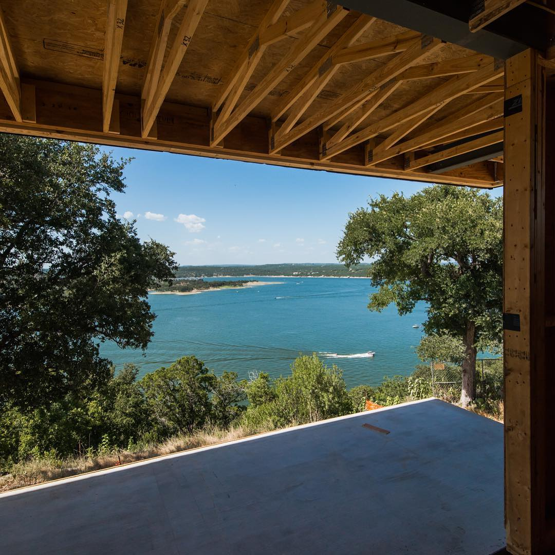 Room with a view overlooking Lake Travis. Built by @foursquarebuilders designed by @dc_architecture photo by @redpantsstudio