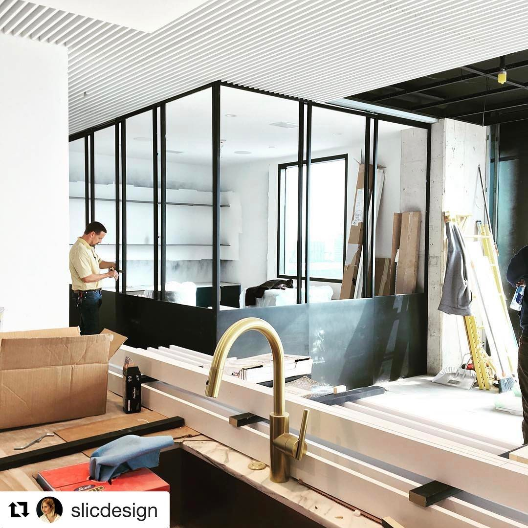 It's been great working with @slicdesign .  Sara has been extremely creative in bringing our client's condo to life. And, thank you @mendservices for your craftsmanship