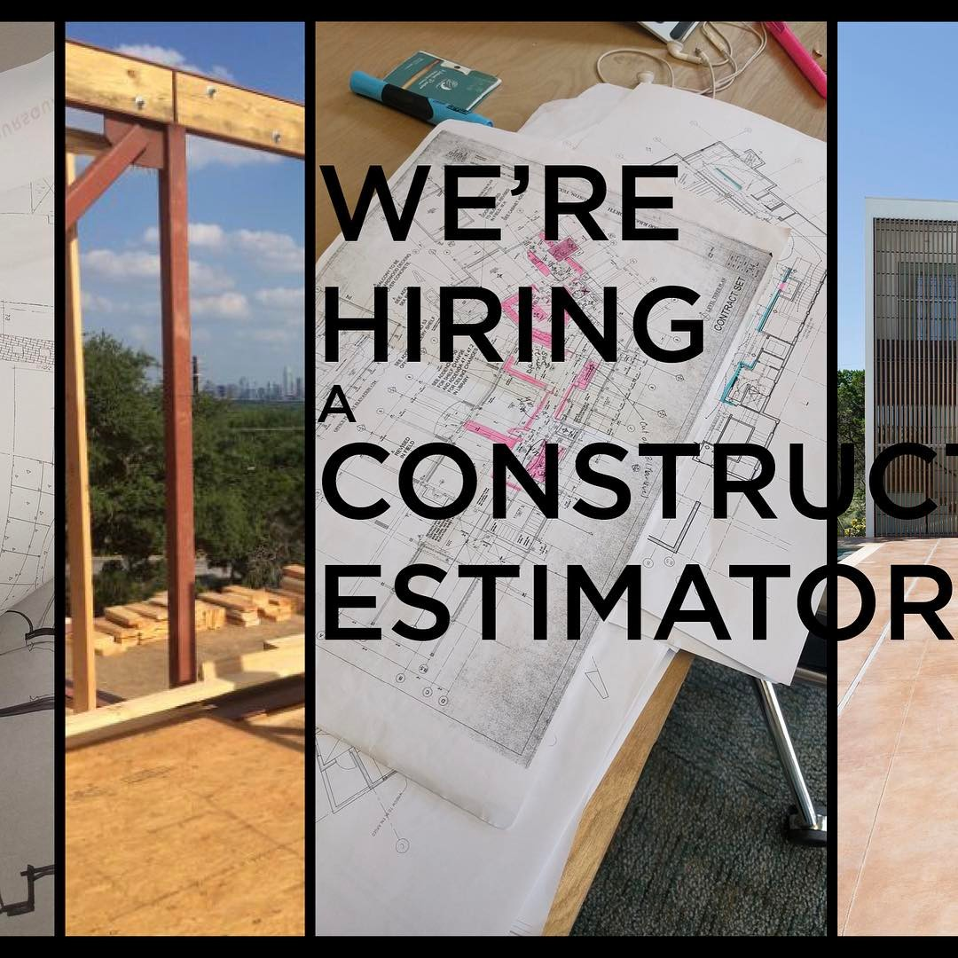 We're in search for a great team member who's dedicated to the craft of estimating. If you or someone you know is looking to work on challenging architecturally significant projects then please contact us.