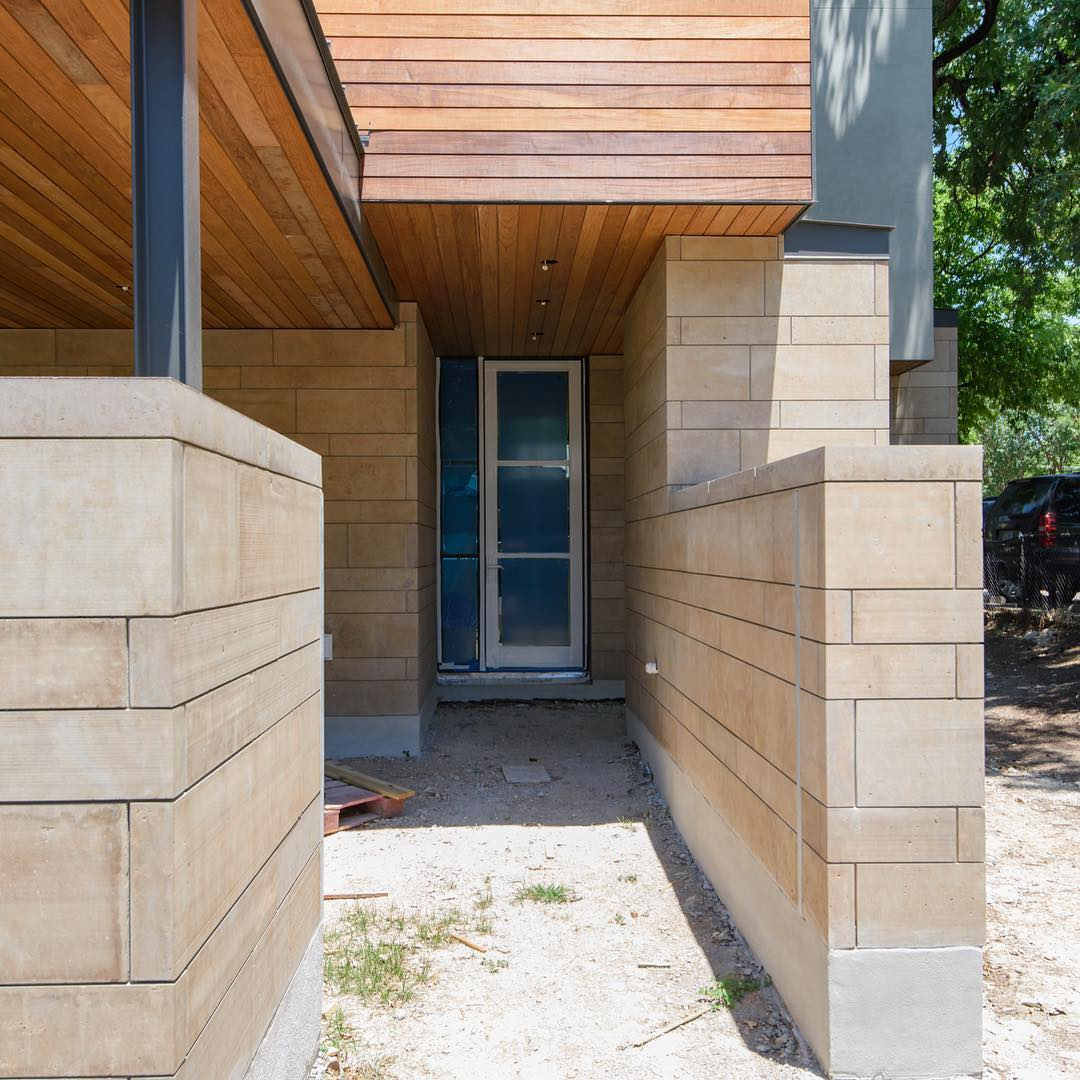 And this is just the back entry to this Dick Clark project in Old West Austin. Designed by @dc_architecture Built by @foursquarebuilders Photo by @redpantsstudio Door by @western_window_systems