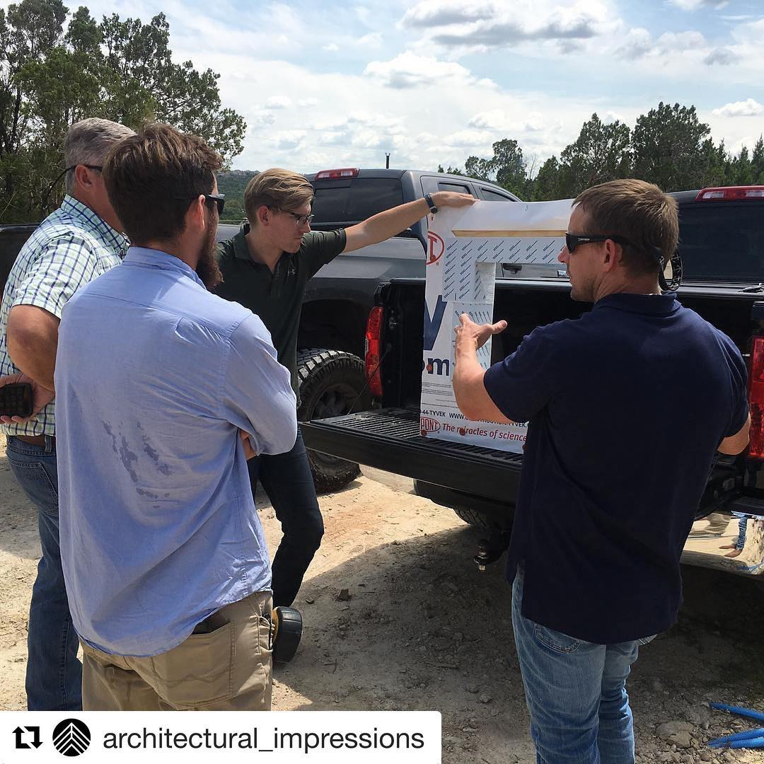 Great to see our men in the field resolving details that will insure our clients home is safe and water tight. Thank you @architectural_impressions for working so closely with us.