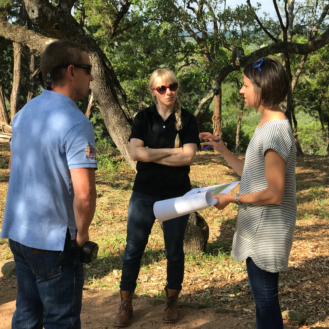 Kickoff meeting for our next Foursquare Builder Dick Clark Architecture collaboration. What a beautiful site our owners have for their home overlooking Barton Creek.
