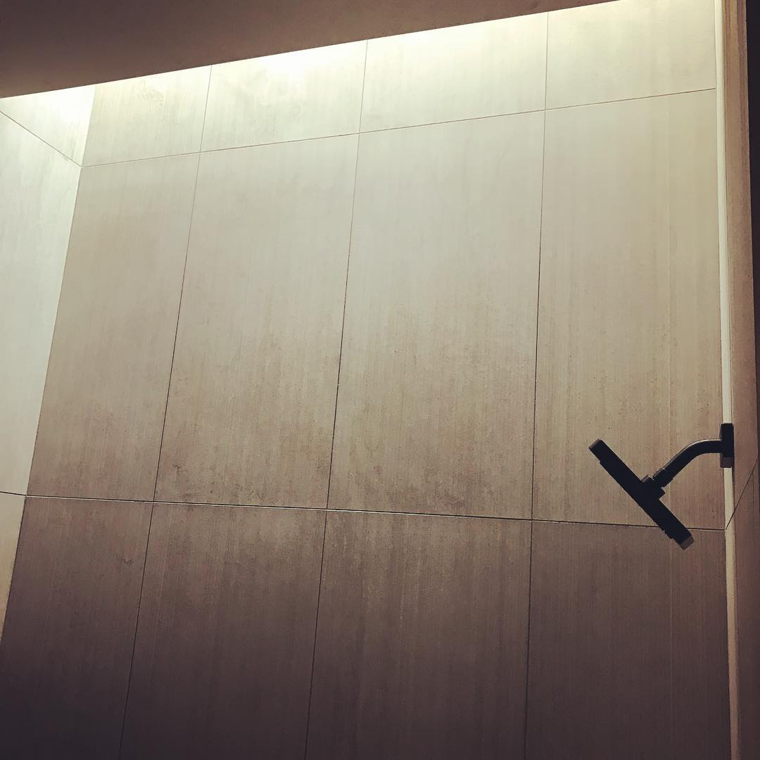 Showers of light and water... The result of a great team. Owners, builder, architect, and designer made it come to life.