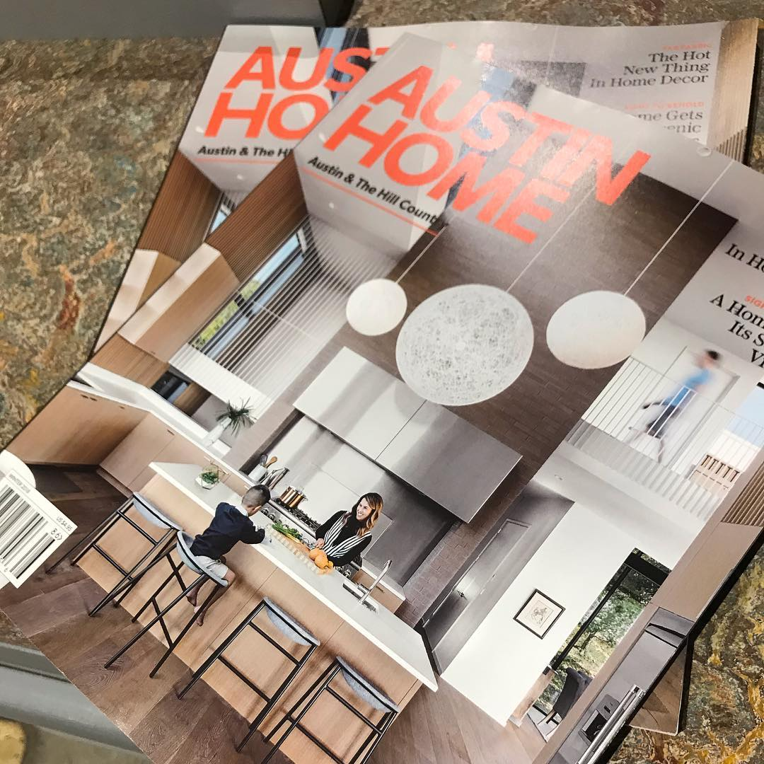 Second cover feature in 2018 for Foursquare Builders and Austin Home magazine! Grateful for our wonderful clients and creative Architects.