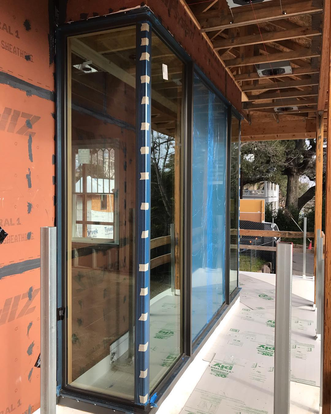 Love our home full of @loewenwindows Our client's will love their downtown views through these amazing windows. Designed by @laruearchitects Interior Design by @lovecounty Built by @foursquarebuilders Installation by @mendservices