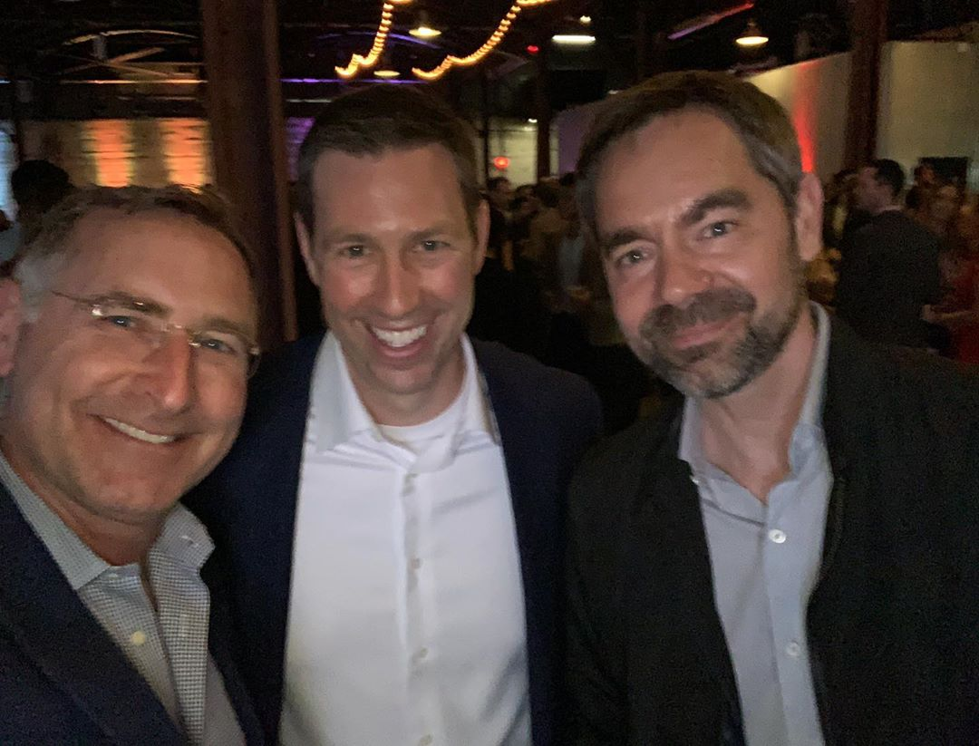 "Three of Austin's top builders, as Matt Risinger stated ""we're here shaking hands and kissing babies at the 2019 AIA AUSTIN Awards Celebration. And my apologies for @rishermartin  for not making the selfie. @foursquarebuilders @risingerbuild @classicconstructors @aiaaustin"