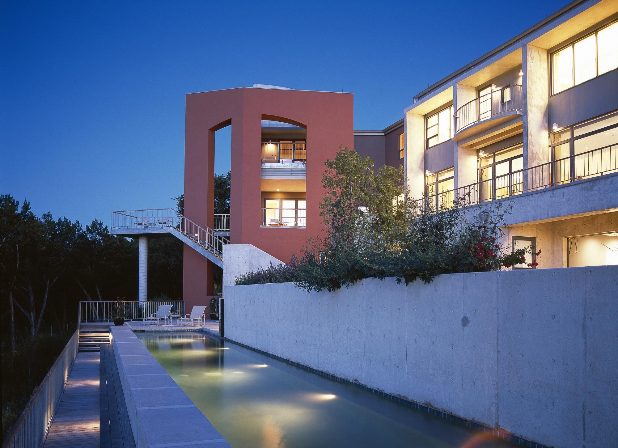 Concrete defines this lap pool.