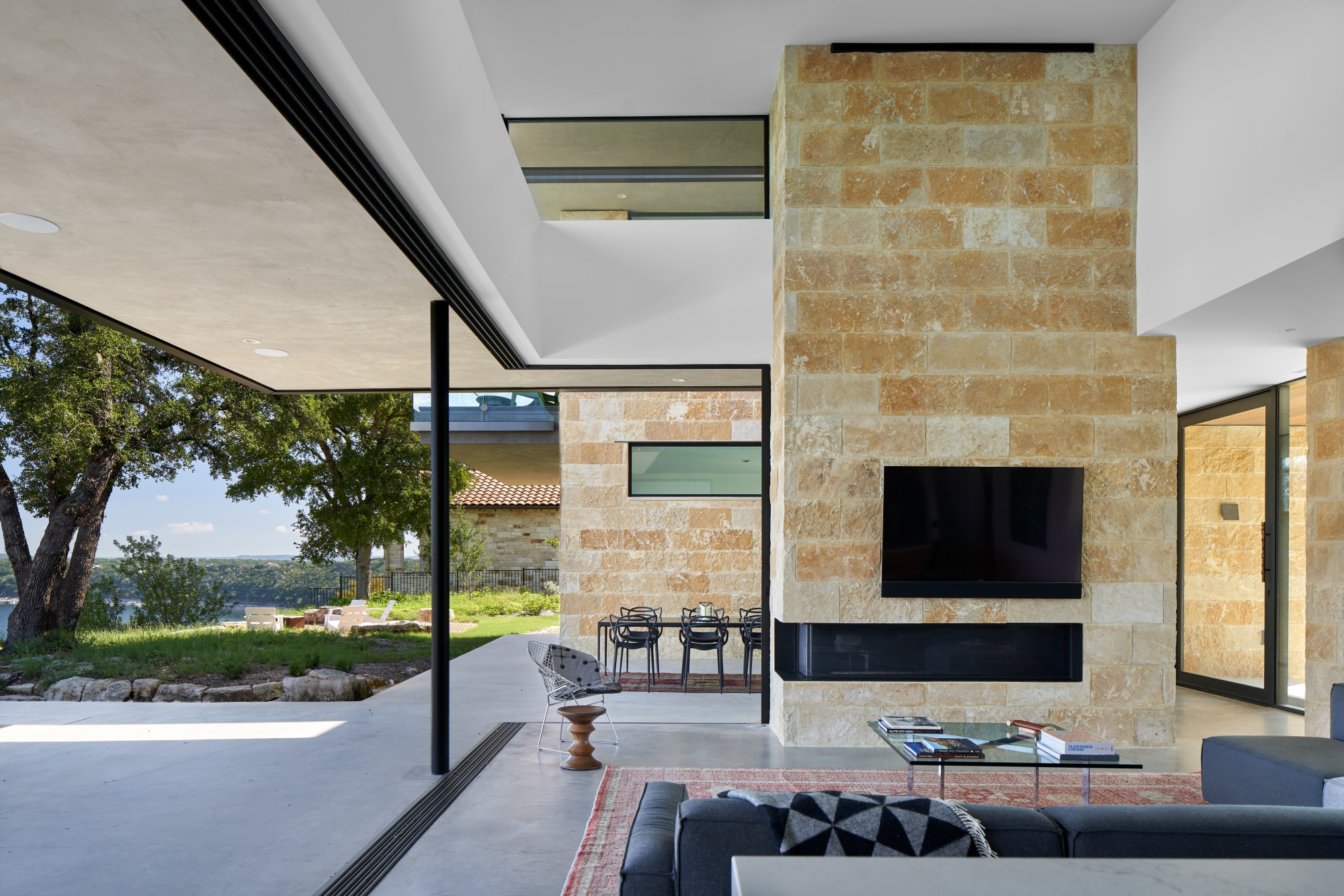 Blurred lines between inside and outdoor living.