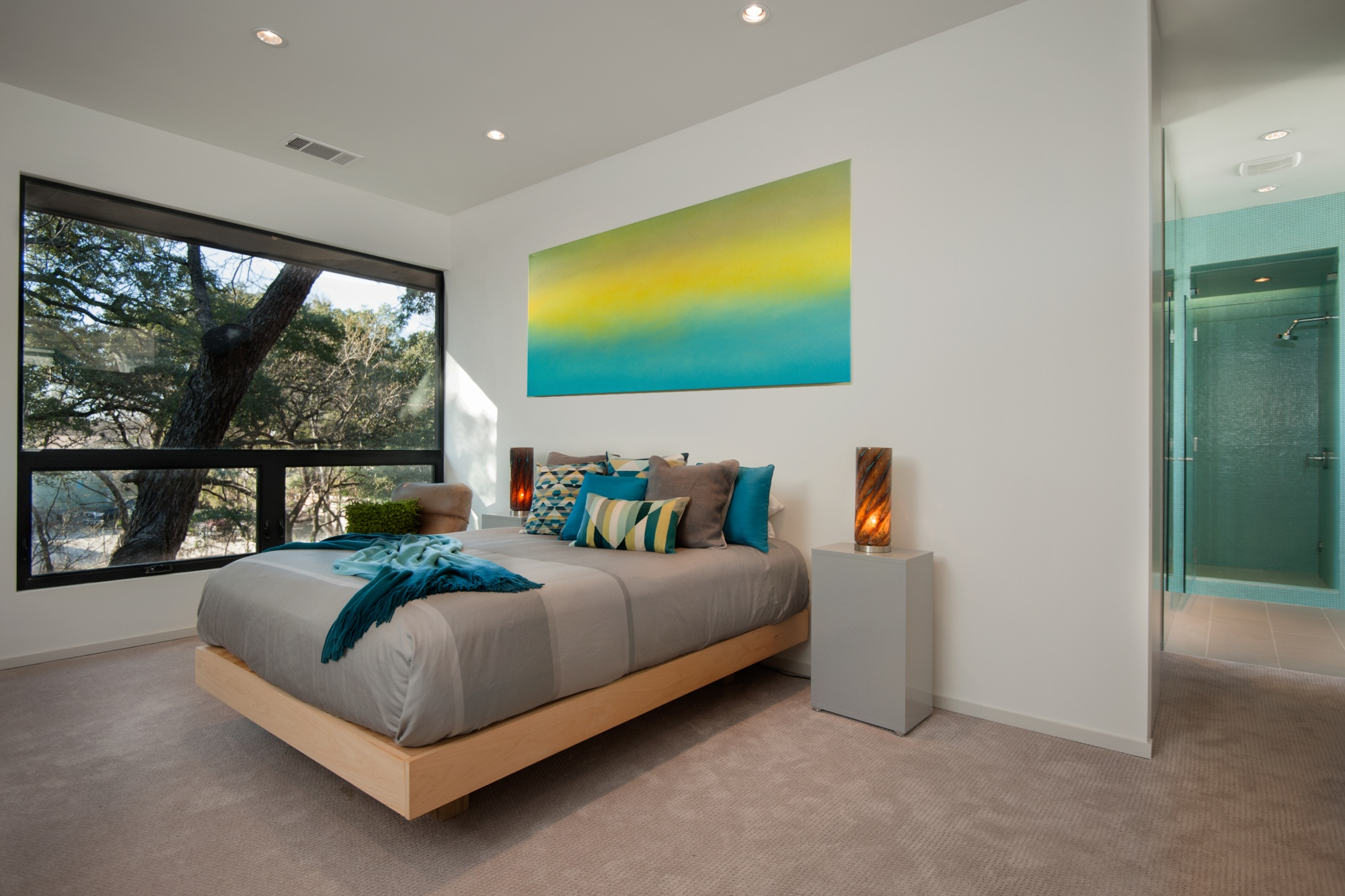 A treehouse feel for our owners from their master bedroom.