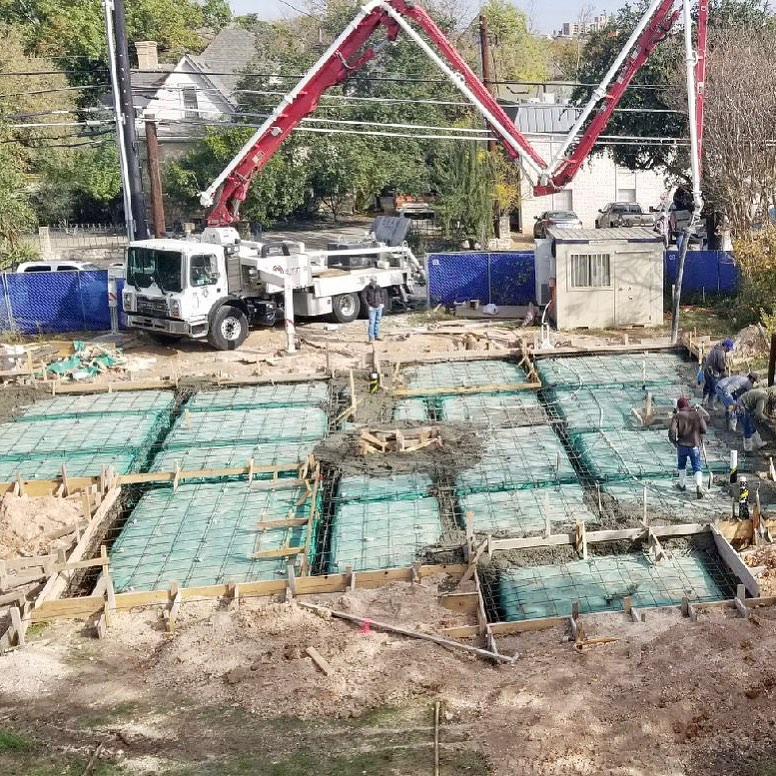 It's always a good day when you start with a new foundation pour!! Architecture by @dc_architecture
