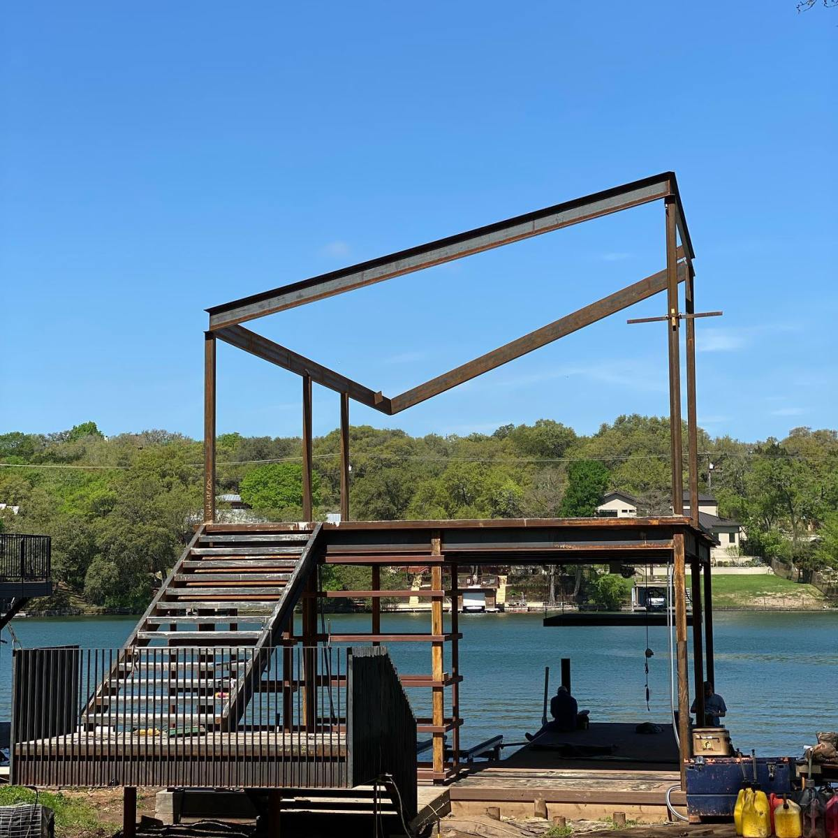 Work stoppage on Lake Austin. Designed by @breckstudio