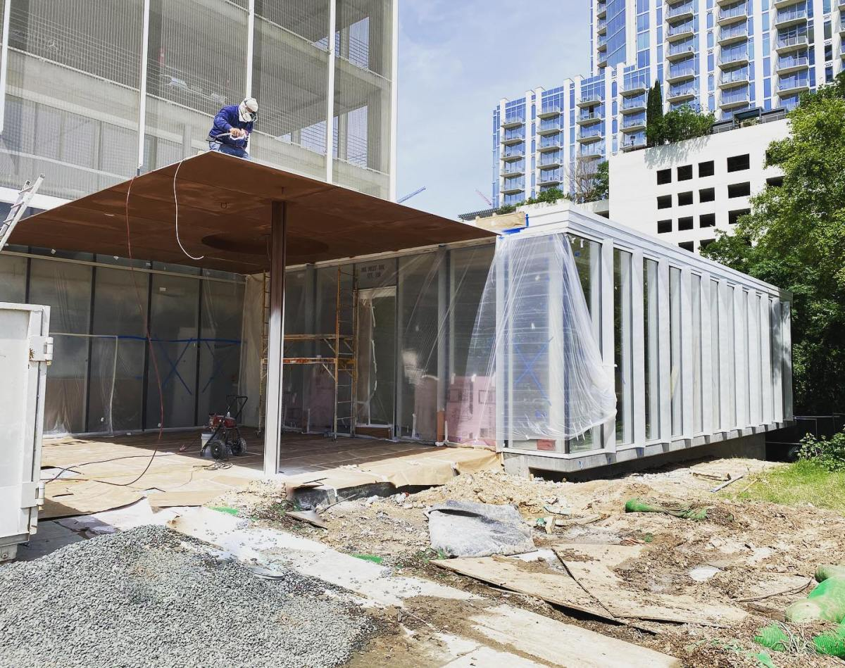 About to take the wraps off our addition to one of Austin's tallest buildings @theindependentaustin