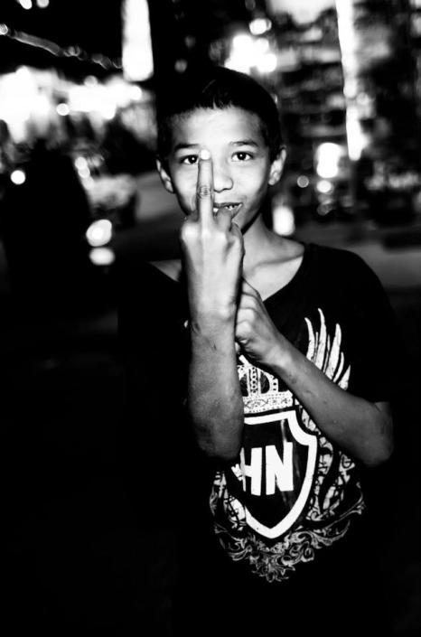 A street child in Kathmandu