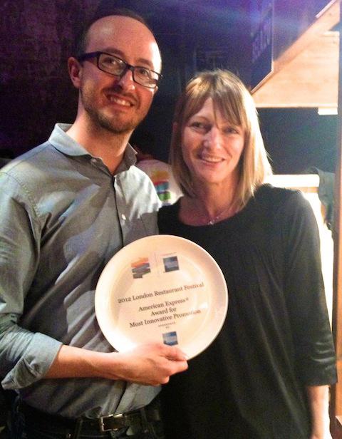 London Restaurant Festival Most Innovative Promotion 2012