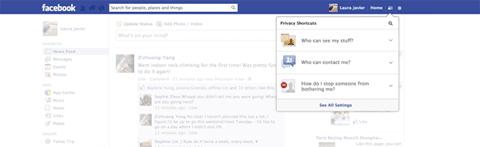 Facebook Privacy Button
