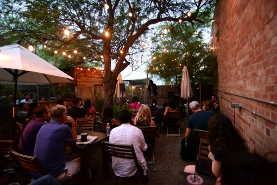 The garden at Cafe Passe in Tucson, Az.