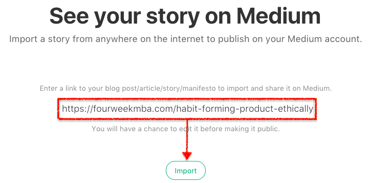 Import Stories Medium