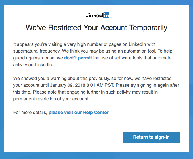 linkedin-restricted-account