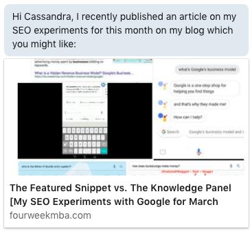 automated LinkedIn message with Leonard