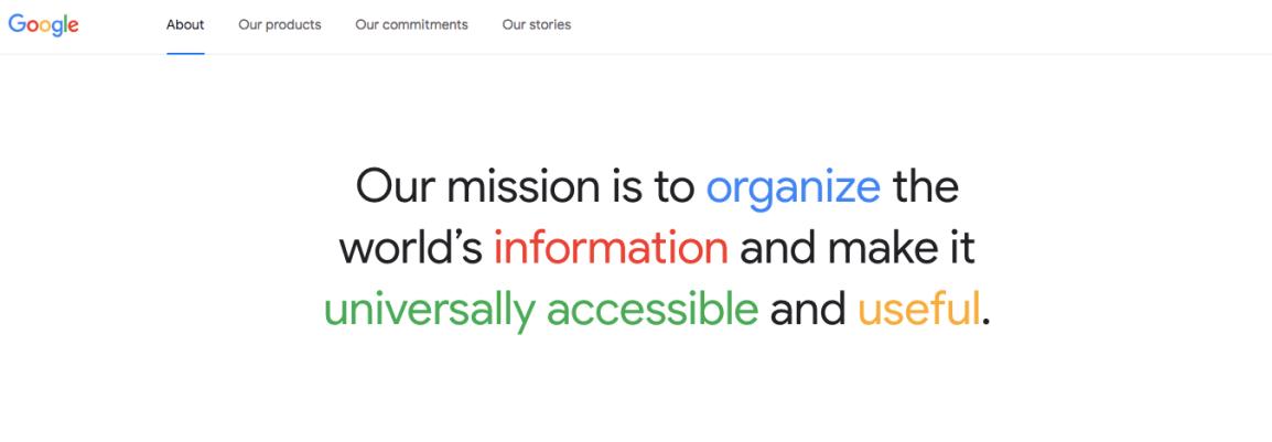 google-mission-statement