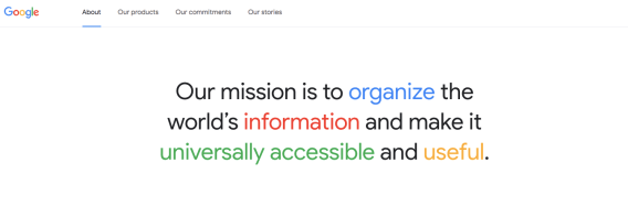 google-mission-statement