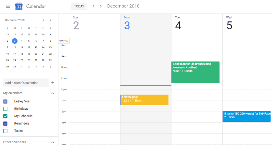 calendar-organize-writing