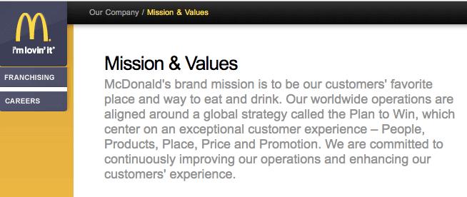 mcdonald-mission-statement