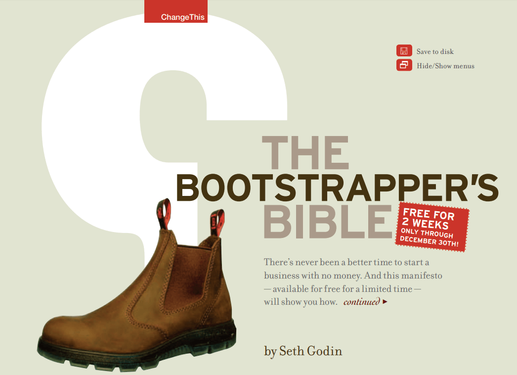 the-bootstrapper-bible-seth-godin