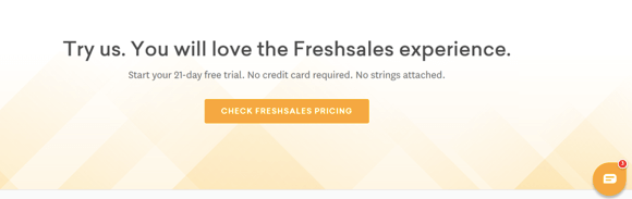 Freshsales CRM landing page